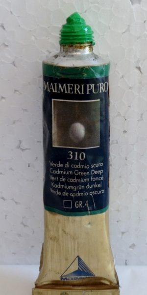 Tinta Óleo Maimeri Puro Cadmium Green Deep S4 #310 – 40ml