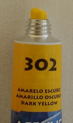 Tinta Acrílica Acrylic Colors Acrilex Amarelo Escuro #302 – 20ml