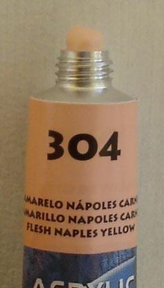 Tinta Acrílica Acrylic Colors Acrilex Amarelo Napolis Carne #304 – 20ml