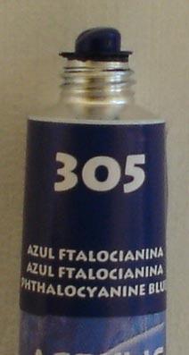 Tinta Acrílica Acrylic Colors Acrilex Azul Ftalocianina #305 – 20ml