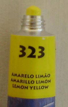Tinta Acrílica Acrylic Colors Acrilex Amarelo Limão #323 – 20ml