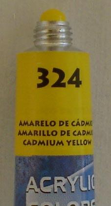 Tinta Acrílica Acrylic Colors Acrilex Amarelo de Cadmio #324 – 20ml