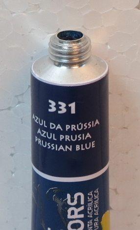 Tinta Acrílica Acrylic Colors Acrilex Azul da Prússia #331 – 20ml