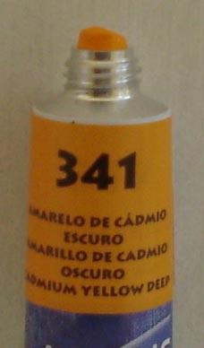 Tinta Acrílica Acrylic Colors Acrilex Amarelo Cadmio Escuro #341 – 20ml