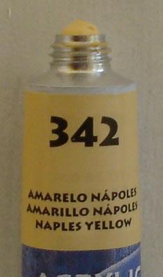 Tinta Acrílica Acrylic Colors Acrilex Amarelo Napolis #342 – 20ml