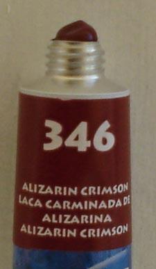 Tinta Acrílica Acrylic Colors Acrilex Alizarim Crimson #346 – 20ml
