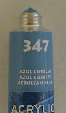 Tinta Acrílica Acrylic Colors Acrilex Azul Ceruleo #347 – 20ml