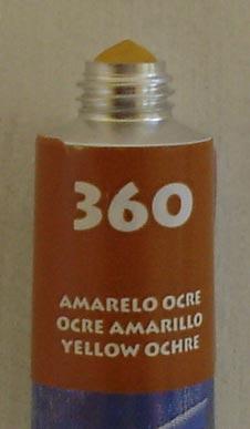 Tinta Acrílica Acrylic Colors Acrilex Amarelo Ocre #360 – 20ml