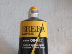 Tinta Acrílica Brera Amarillo Cadmium Oscuro #084 – 60ml S2