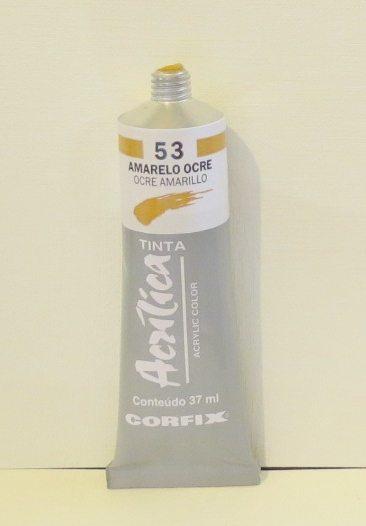 Tinta Acrílica Corfix Amarelo Ocre #053 – 37ml