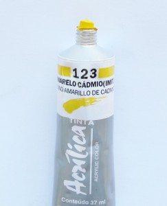 Tinta Acrílica Corfix Amarelo Cadmio #123 – 37ml