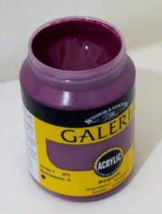 Tinta Acrílica Galeria Burgundy #075-250ml