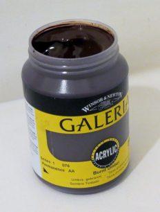 Tinta Acrílica Galeria Burnt Umber #076-250ml