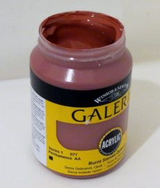 Tinta Acrílica Galeria Burnt Sienna Opaque #077-250ML