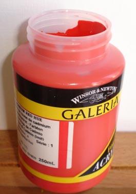 Tinta Acrílica Galeria Cadmium Red Hue#095-250ml