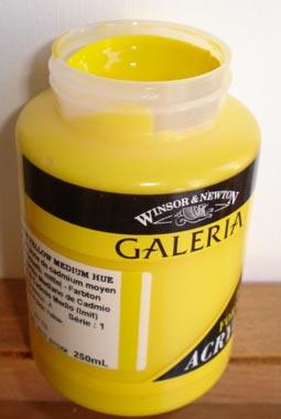 Tinta Acrílica Galeria Cadmium Yellow Med Hue  #120-250ml