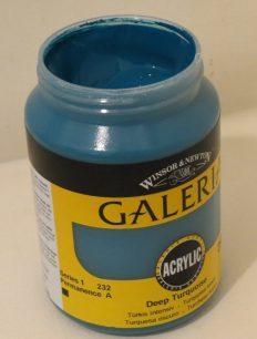 Tinta Acrílica Galeria Deep Turquoise #232-250ml