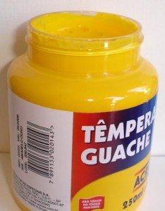 Tempera Guache Acrilex Amarelo Ouro #505 – 250ml
