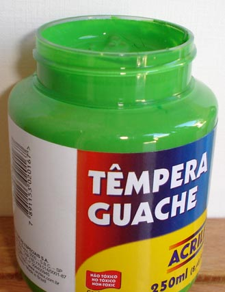 Tempera Guache Acrilex Verde Folha #510 – 250ml