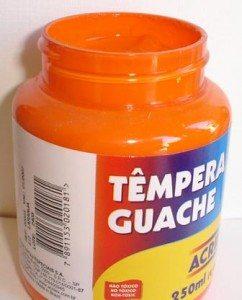 Tempera Guache Acrilex Laranja #517 – 250ml