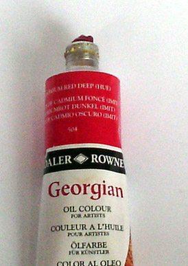 Tinta Óleo Georgian Cadmium Red Deep Hue #504 -75ml