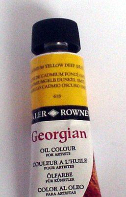 Tinta Óleo Georgian Cadmium Yellow Deep #618 -75ml
