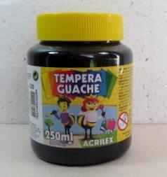 Tempera Guache Acrilex Preto #520 – 250ml