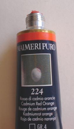 Tinta Óleo Maimeri Puro Cadmium Red Orange S4 #224 – 40ml