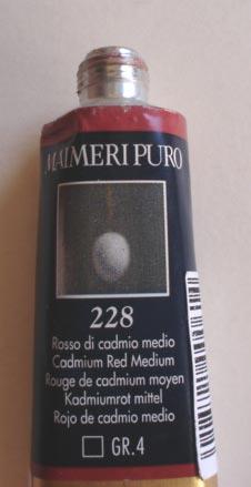 Tinta Óleo Maimeri Puro Cadmium Red Medium S4 #228 – 40ml
