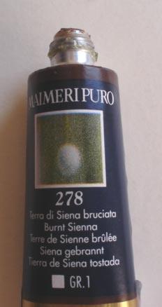 Tinta Óleo Maimeri Puro Burnt Siena S1 #278 – 40ml