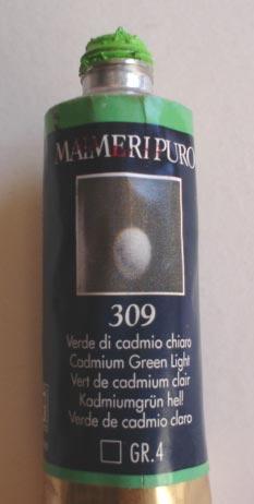 Tinta Óleo Maimeri Puro Cadmium Green Light S4 #309 – 40ml