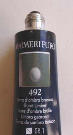 Tinta Óleo Maimeri Puro Burnt Umber S1 #492 – 40ml
