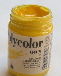 Tinta Acrílica Polycolor Cadmium Yellow Medium #083-140ml