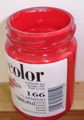 Tinta Acrílica Polycolor Carminio#166-140ml