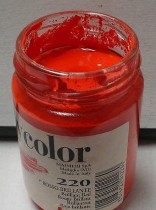 Tinta Acrílica Polycolor Brilliant Red #220-140ml