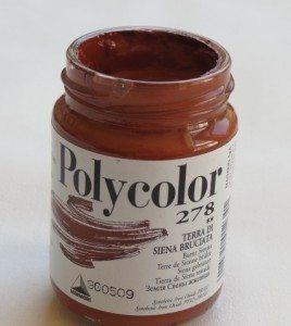 Tinta Acrílica Polycolor Burnt Siena #278-140ml