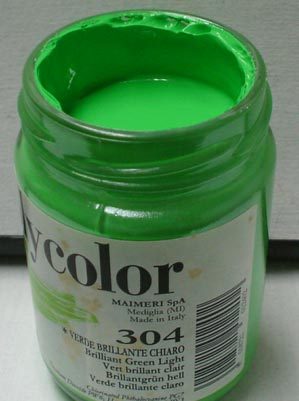 Tinta Acrílica Polycolor Brilliant Green Light#304-140ml