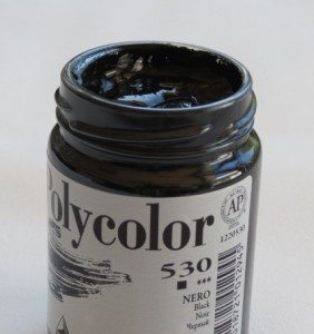 Tinta Acrílica Polycolor Black #530-140ml