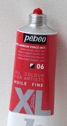 Tinta Óleo Pebeo Cádmium Red Deep Hue #06-37ml