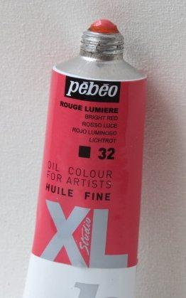 Tinta Óleo Pebeo Bright Red  #32 – 37ml