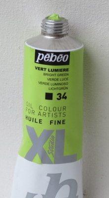 Tinta Óleo Pebeo Bright Green #34 – 37ml