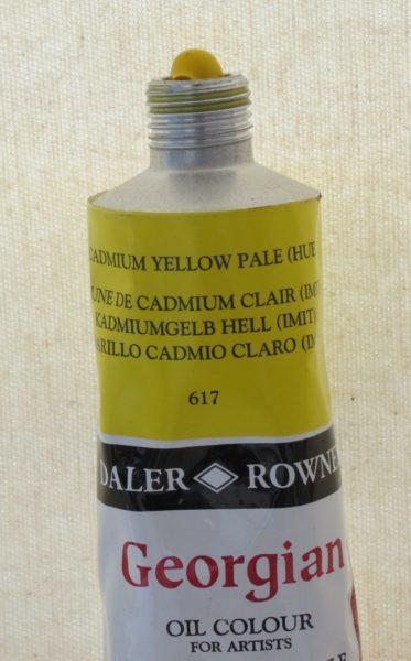 Tinta Óleo Georgian Cadmium Yellow Pale Hue #617 – 75ml