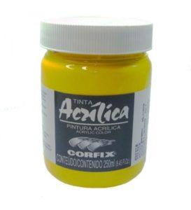 Tinta Acrílica Corfix Amarelo de Cádmio #123 – 250ml G1