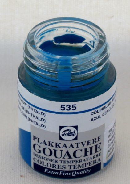 Tinta Gouache Talens Cerulean Blue #535 – 16ml