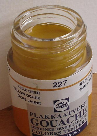 Tinta Guache Talens Yellow Ochre #227 – 16ml