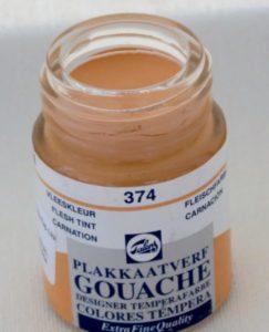 Tinta Gouache Talens Flesh Tint #374 – 16ml