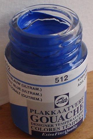 Tinta Guache Talens Cobalt Blue Ultram #512 – 16ml