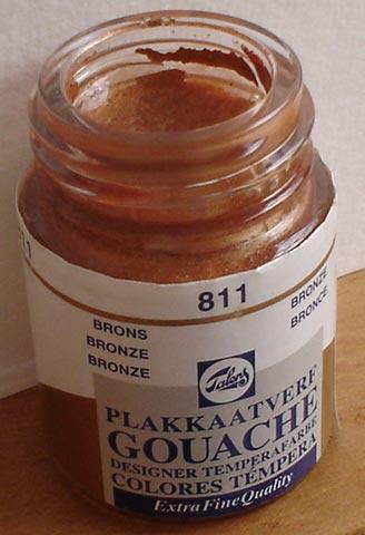 Tinta Guache Talens Bronze #811 – 16ml