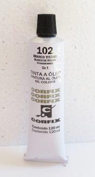 Tinta Óleo Corfix Branco de Titânio #102 – 120ml