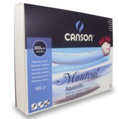 Bloco Pintura Canson Montval A4 Jumbo  300gr CP  100fls